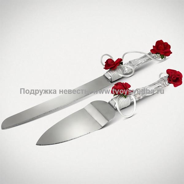 Украсить свадебный нож и лопатку для торта своими руками